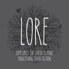 Lore | Spooky podcast