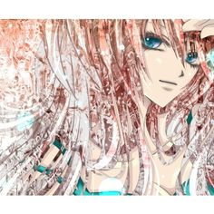 aonoe blue eyes long hair megurine luka pink hair smile solo vocaloid ❤ liked on Polyvore featuring anime and vocaloid