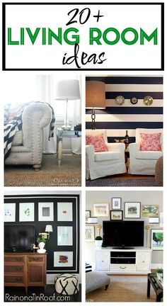 Home Decor. Real Life Living Room Decorating Ideas that anyone can do! Includes ideas for storage, seating, walls and more!