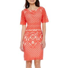 3a2f61f4afaf DR Collection Short-Sleeve Lace Sheath Dress - Petite - JCPenney Dressy  Outfits, Girl
