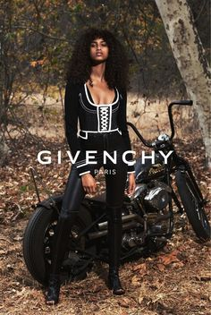 Givenchy's S/S 2015 Ad Campaign is biker-chic // shot by Mert & Marcus