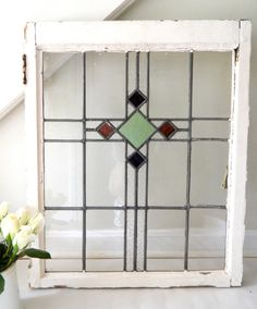 in front of kitchen window Antique Stained Glass Windows, Stained Glass Designs, Stained Glass Panels, Stained Glass Projects, Stained Glass Patterns, Leaded Glass, Stained Glass Art, Mosaic Glass, Antique Windows