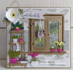 Here are the newest items from Marianne. Don't forget to get your Altenew orders to me. Marianne Design Cards, Window Cards, Plant Shelves, Quilling Designs, Flower Frame, Paper Cards, Flower Cards, I Card, Cardmaking