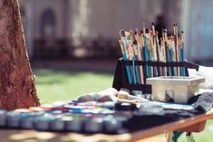 selective focus photography of assorted-shape-and-color paintbrushes on rack photo – Free Art Image on Unsplash Auras, Laura Lee, Westminster, Adult Art Classes, Acrylic Paint Brushes, Harrison Design, Professional Development For Teachers, Watercolor Kit, Watercolor Classes
