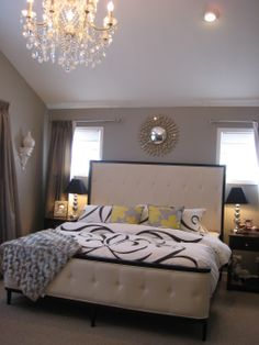 contemporary glam rooms | Hollywood Glam , I love my master bedroom! It's stylish comfortable ...