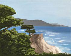 Lone Cypress Painting, 14 x 11, Oil Painting, Original Art, 17 Mile Drive Art, Landscape Painting, California Art, Tree Painting, Ocean Art by…