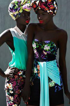 ♥African Fashion   18-15n-77-30w: blackfashionstars: Elizabeth Manyuon and Nikki Thot for Remix Magazine. 18° 15' N, 77° 30' W Black Girls Killing It Shop BGKI NOW