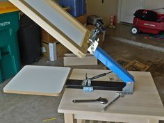 If you didnt know, my first press comes from the DIY Screen Print Kit. Its a one color table-top press (unboxing video here) which means you need a table top to mount it to. Or I guess you could lay it in your lap? I could use any old table or I could buy an expensive screen printing cart with wheels and shelves to hold screens and supplies, but I am super cheap. So I went back to my bachelor...
