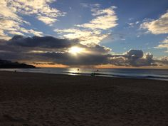 Clouds over Maroubra beach