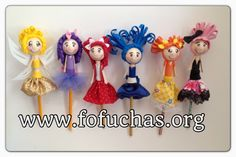 Handmade fofucha doll pencil toppers. These are made using foam sheets and made dresses out of foam and fabric. Super cool back to school pencil toppers. To order visit fofuchas.org #fofuchas #pencils #backtoschool