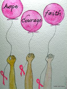 BrEaSt CaNcEr CaRD HoPe CoUrAgE FaiTH original by carterdealejos, $3.75