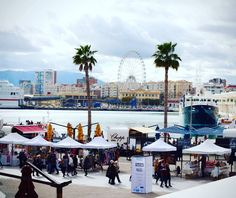 The new port Muello Uno Malaga. Full of bars restaurants and art. Post on blog #Malaga #andalucia #Spain