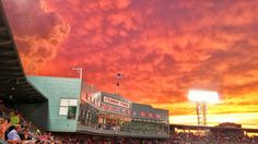 Professional Print.  Sizes: 10 X 8 inches and 19 X 13 inches  This was one of the best sunsets that I have ever seen and I happened to be at Fenway Park that night.  It's safe to say that not many fans were focused on the game!  IG:@burnsobright11 website: www.burnsobright.com