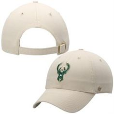 8f9d29cd06c Men s  47 Brand Natural Milwaukee Bucks Secondary Logo Cleanup Adjustable  Hat Buck Store
