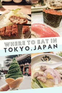 Looking for all the best food places in Tokyo, Japan? Look no further, from ramen, to sushi, to matcha - this post has it all! Tokyo Japan Travel, Japan Travel Guide, Japan Trip, Tokyo Trip, Tokyo 2020, Asia Travel, Japan Street Food, Tokyo Food, Best Ramen In Tokyo