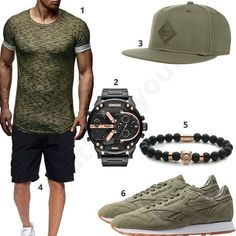 Schwarz-Grünes Outfit für Männer (m0400) #outfit #style #fashion #menswear #mensfashion #inspiration #shirts #cloth #clothing #männermode #herrenmode #shirt #mode #styling #sneaker