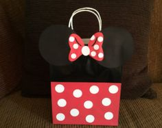 Minnie Mouse goody bags, Red Minnie Mouse party favor, Minnie Mouse favors bags, Minnie Mouse party bags, Minnie Mouse birthday bags