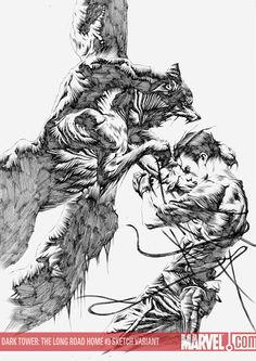 The Dark Tower: The Long Road Home 3, Sketch Variant / Jae Lee (Artwork), Richard Isanove (Coloring)