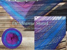 De Moanne Shawl. Eigen ontwerp van Annie Germeraad. Gratis patroon te vinden op mijn Facebook-pagina