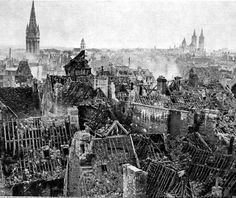 Ruins of Caen, Normandy