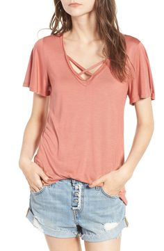 Our Favorite Criss-Cross Tees + Swimsuits Blue Fashion, Kids Fashion, Nordstrom Half Yearly Sale, Junior Tops, Shirt Style, Fashion Online, Swimsuits, T Shirts For Women, My Style