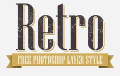 8 Free Retro Layer Styles for Photoshop