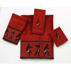 Found it at Wayfair - Kokopelli 4 Piece Towel Set