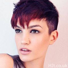 Short undercut hair red style