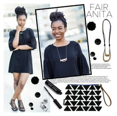 """""""Fair Anita"""" by gaby-mil ❤ liked on Polyvore featuring Bobbi Brown Cosmetics, dress, bag, necklace and FairAnita"""