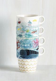 Door's Always Ocean Mug Set