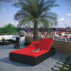 Evince Double Chaise in Espresso Red, Espresso Red - Fuse together balanced portrayals with the Evince Chaise Lounge. Bring a tangible expression to your outdoor porch or pool setting from heightened perspectives. With a dual-adjustable upper portion and cushions on an espresso rattan base, demonstrate your objectives while holding onto guarded elegance. Set Includes: One - Evince Two -Seater Outdoor Wicker Patio Chaise Recliner. Material: CUSHION:WHITE NON-WOVEN/DENSITY FOAM/DENSITY…
