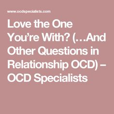 Relationship ocd wedding