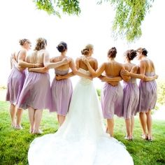 I loveee the color of these bridesmaid dresses!!!