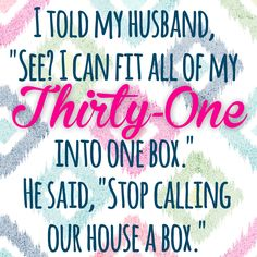 I told my husband, \