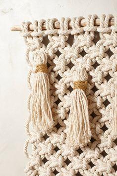 Small Macrame Tapestry - anthropologie.com