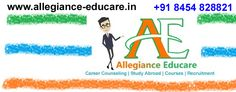 Allegiance Educare is an ISO certified Career Counselling Centre in Andheri Mumbai.  Our unique career assessment technique helps students to find the perfect match for their Career.  Our presence in Recruitment, Study Abroad and Industry Courses gives us an edge in the Career Guidance process.