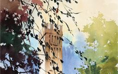 In this demo, Thomas Schaller demonstrates how to move beyond what the eye actually sees to present a unique vision. Oil Painting For Beginners, Watercolor Painting Techniques, Watercolor Paintings, Watercolors, Watercolor Tips, Painting Art, Landscape Architecture Model, Watercolor Architecture, Art Techniques
