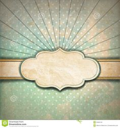 Vintage Sunbeams Background With Label Royalty Free Stock Photo ...