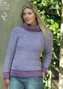 Tweed Jacket and Sweater in King Cole Big Value Chunky - 3622