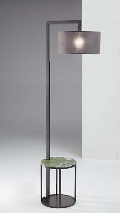 Silene floor lamp burnished coffee table burnished - top cover green Ming glossy marble