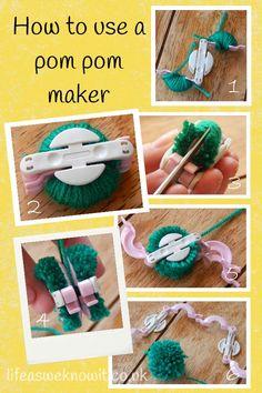 How to Make Pom Poms (using a Pom Pom Maker) - Fun Crafts Kids