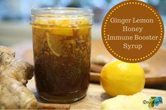 Ginger Lemon Honey Immune Booster Syrup - a teaspoon away keeps the doctor away! via @ecokaren