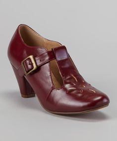 Take a look at this Burgundy Judy Pump on zulily today!