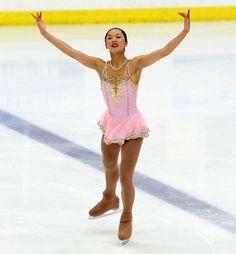 Thursday at U.S. Challenge Skate 2014, Alice Yang, Pink Figure Skating / Ice Skating dress inspiration for Sk8 Gr8 Designs