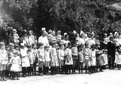 orphan train children - Google Search  NYC- children waiting to board the orphan train