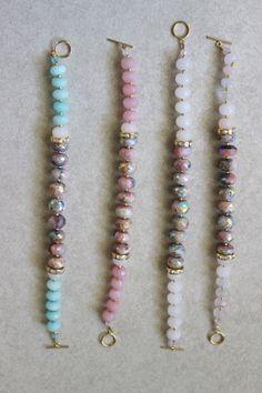 Aqua blue spring bracelet titanium coated by StarsonMarsJewelryCo - JEWELRY Gemstone Jewelry, Beaded Jewelry, Beaded Necklace, Beaded Bracelets, Wire Earrings, Hippie Bracelets, Embroidery Bracelets, Beaded Bracelet Patterns, Pandora Bracelets