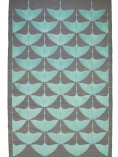 Birds Grey Turquoise by FLOOR_STORY