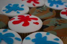 Paint splats Balloon Cupcakes, Cupcake Cakes, Cupcake Ideas, Dessert Ideas, 9th Birthday Parties, 7th Birthday, Birthday Cakes, Birthday Ideas, Water Gun Party