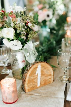 rustic chic wedding table number