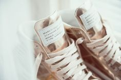 Shoes: rose gold sport marc jacobs cute lovely shoe laces shoe lace gold pink cute athletic sports